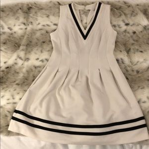 SPORTY/ TENNIS DRESS WHITE AND BLACK STRIPES